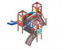Детский игровой комплекс «Королевство» ДИК 1.15.03 H=900