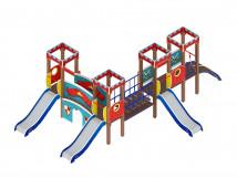 Детский игровой комплекс «Королевство» ДИК 1.15.04 H=900