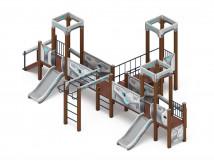 Детский игровой комплекс «Королевство» (Техно) ДИК 1.15.05-02 H=750