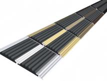 Анодированная полоса с двумя вставками против скольжения 70 мм/5,5 мм
