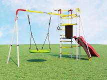 Детский спортивный комплекс для дачи Островок Плюс