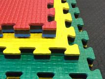 Двухцветные мягкие плитки 50x50 см