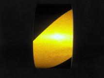 Желто-черная светоотражающая лента
