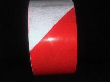 Красно-белая светоотражающая лента
