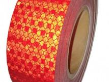 Красная «Алмазная» световозвращающая лента