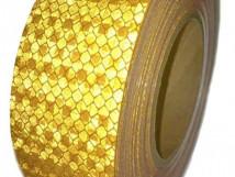 Желтая «Алмазная» световозвращающая лента