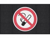 Курение запрещено, черный цвет, среднее зерно