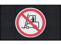 Движение погрузчика запрещено, черный цвет, среднее зерно