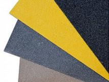 Противоскользящая пластина, 750х1000х3,8 мм, размер абразива 46 Grit, желтый цвет