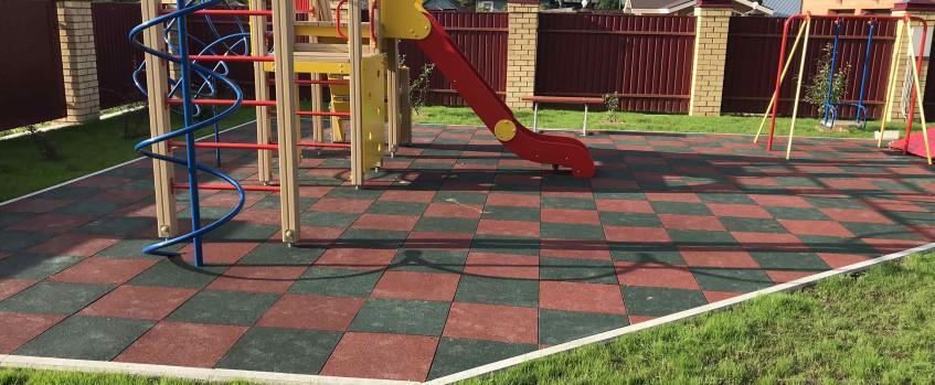 Резиновая плитка для детской площадки г. Вологда