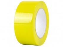 ПВХ ОПП лента для разметки и маркировки, желтый цвет, толщина пленки 190 мкм (0,19 мм)