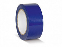 ПВХ лента для разметки и маркировки, синий цвет, 150 мкм