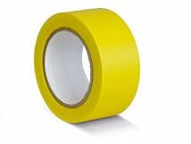 ПВХ лента для разметки и маркировки, желтый цвет, 150 мкм