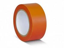 ПВХ лента для разметки и маркировки, оранжевый цвет, 150 мкм