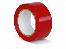 ПВХ лента для разметки и маркировки, красный цвет, 150 мкм