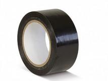 ПВХ лента для разметки и маркировки, черный цвет, 150 мкм