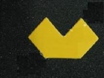L-образный, прямоугольные края
