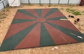 Детская площадка из бесшовного покрытия