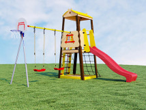 Детский спортивный комплекс для дачи Избушка
