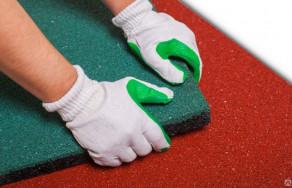 Укладка резиновой плитки и брусчатки