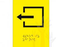СП-10 Пиктограмма с дублированием информации по системе Брайля. Выход из помещения.