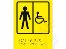 СП-05 Пиктограмма с дублированием информации по системе Брайля. Туалет для инвалидов (М)