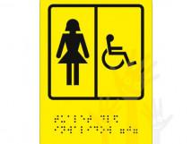 СП-06 Пиктограмма с дублированием информации по системе Брайля. Туалет для инвалидов (Ж)