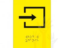 СП-09 Пиктограмма с дублированием информации по системе Брайля. Вход в помещение.